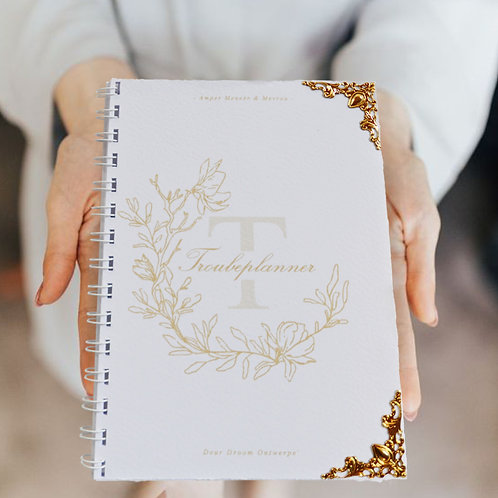 A5 Standard Wedding Planner Book - White and Gold (Ready To Ship)