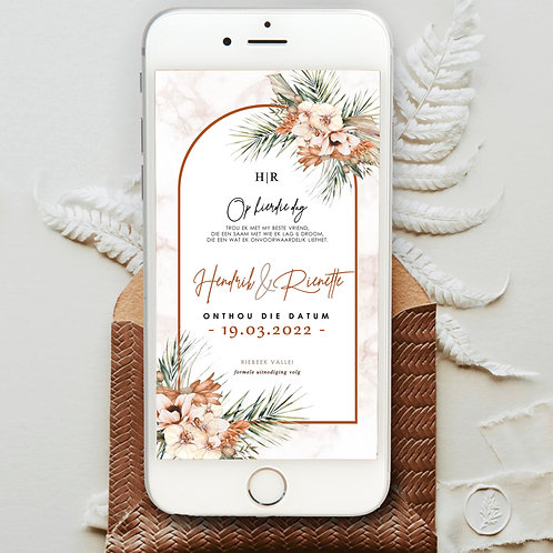 Terracotta Digital Save The Date Photo (Ready To Order)