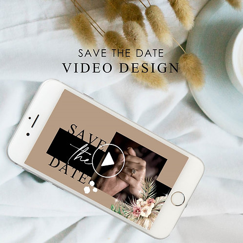 Save The Date Video - Modern (Ready To Order)