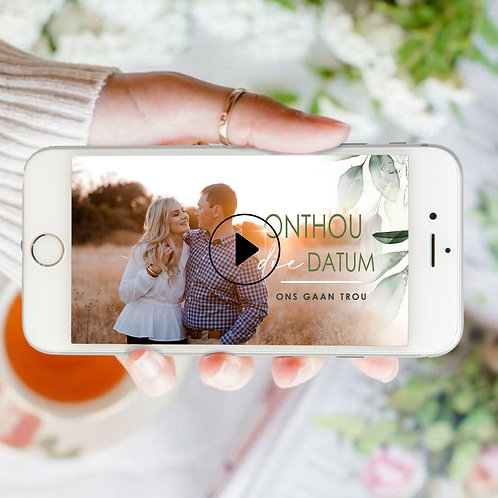 Save The Date Video - Greenery (Ready To Order)