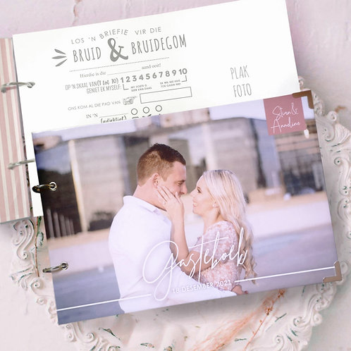 Funny Form Personalised Hard Cover Guest Book (Couture Design)