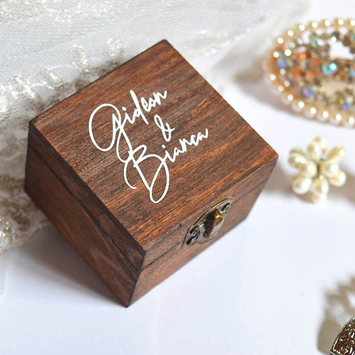 Wooden Ring Box (Ready To Order)