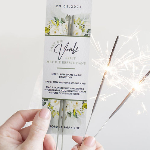 Greenery Sparkler Card (Ready To Order)