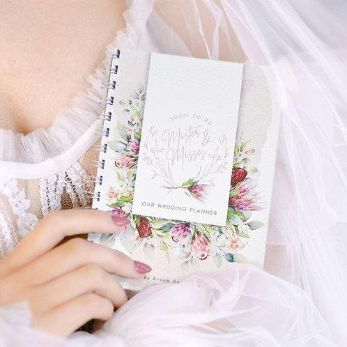 A5 Standard Wedding Planner Book - Proteas/Blush (Ready To Ship)