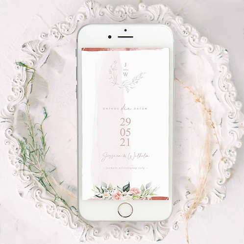 Beauty In Bloom Digital Save The Date Photo (Ready To Order)