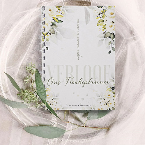 A5 Standard Wedding Planner Book - Greenery (Ready To Ship)