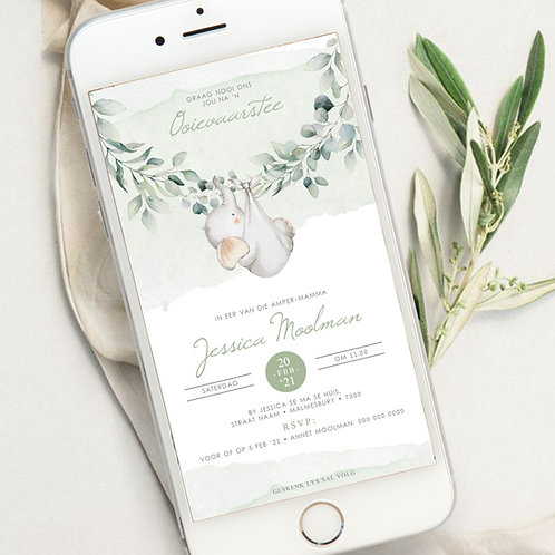 Nuget Baby Shower Digital Invitation (Ready To Order)