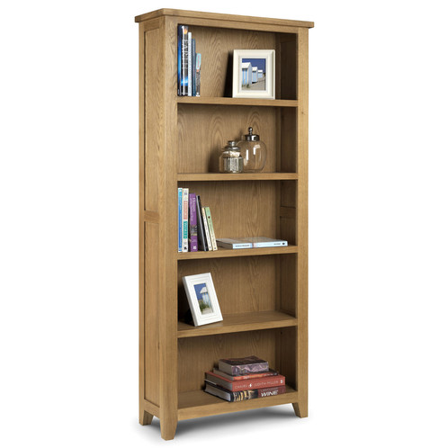 the astoria tall bookcase is a classically styled bookcase constructed from solid american white oak in a beautiful waxed finish this bookcase is perfect
