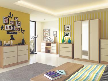 Monaco Cream with Light Oak Room Set.jpg