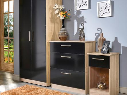 Contrast Black Gloss & Bardolino Room Se