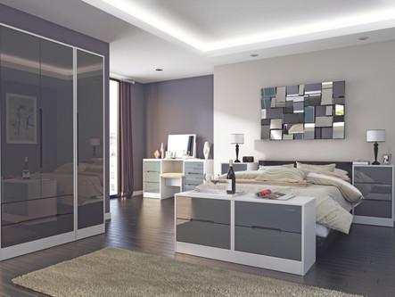 Monaco Grey Gloss with White Room Set.jp