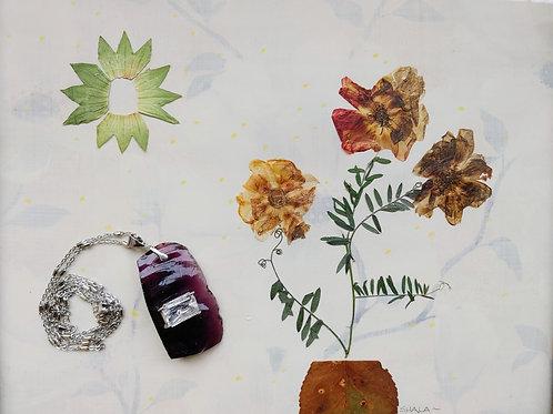 Dark Purple Andara Glass & Goshenite Stone
