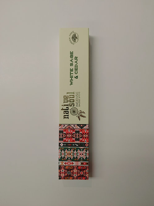 Native Soul Incense Smudge Sticks - White Sage & Cedar