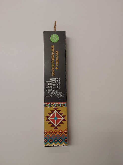 Tribal Soul Incense Smudge Sticks - Sweetgrass & Cedar