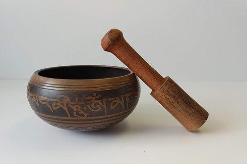 Brass Singing Bowl Brown