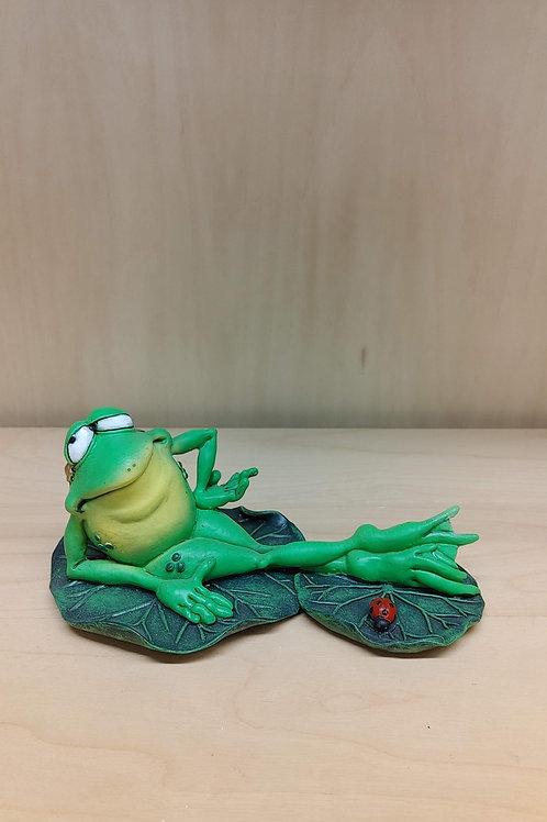 Hanging on the Lily Pad
