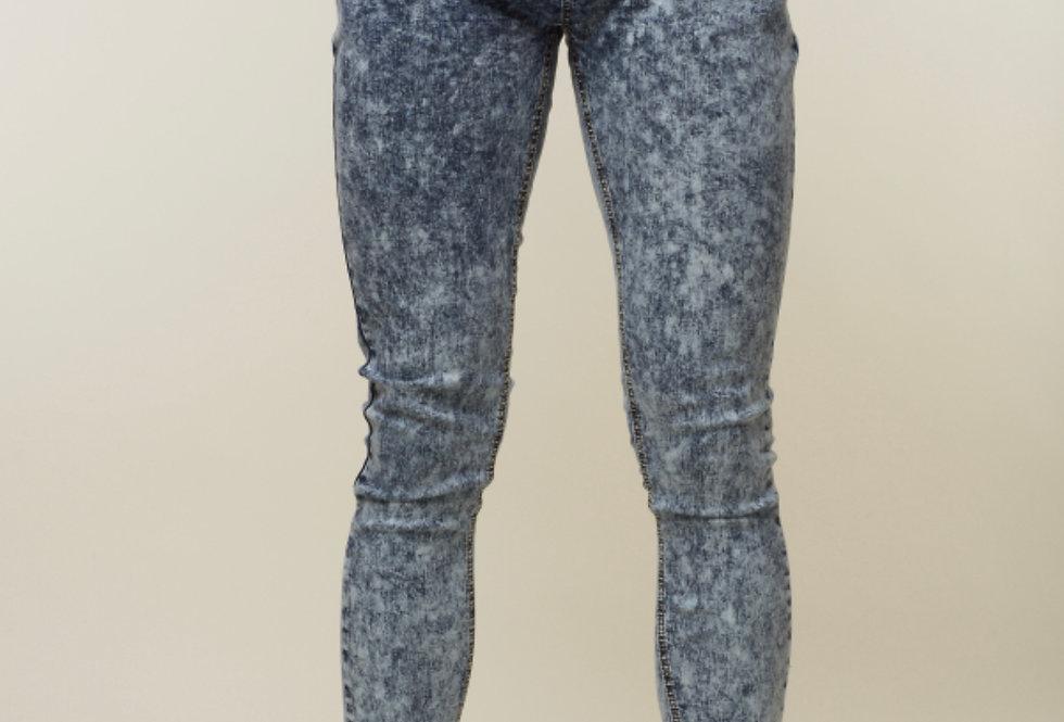 Criminal Damage Acid Wash skinny Men's jeans - Indigo