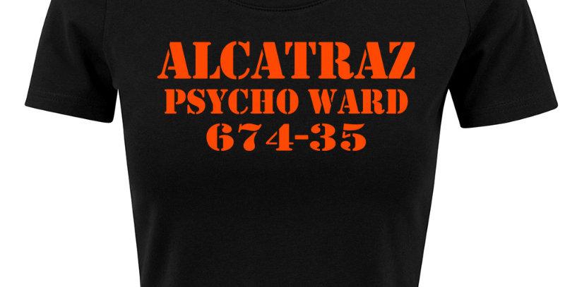 Alcatraz Cropped Tee for Women - black