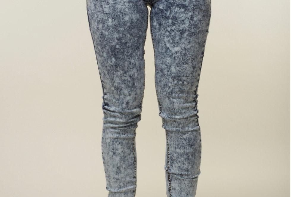 Criminal Damage Acid Wash skinny jeans - Indigo