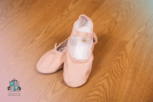 Pink leather ballet shoes (girls)