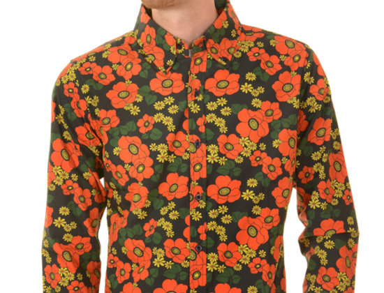Retro Black Poppy Shirt