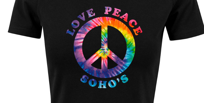 Rainbow CND Cropped Tee for Women - black