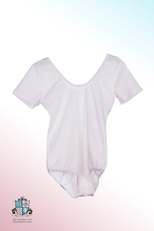 White short sleeved leotard (Pre Primary to Grade