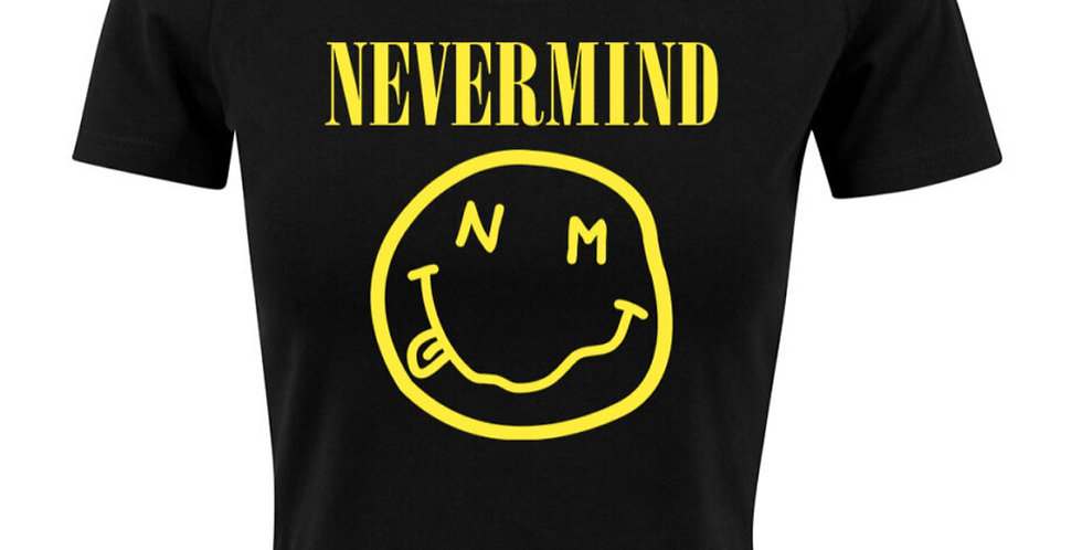 Never Mind Cropped Tee for Women - black