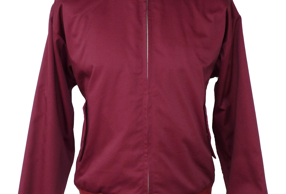 Harrington Jacket by Relco - Burgundy