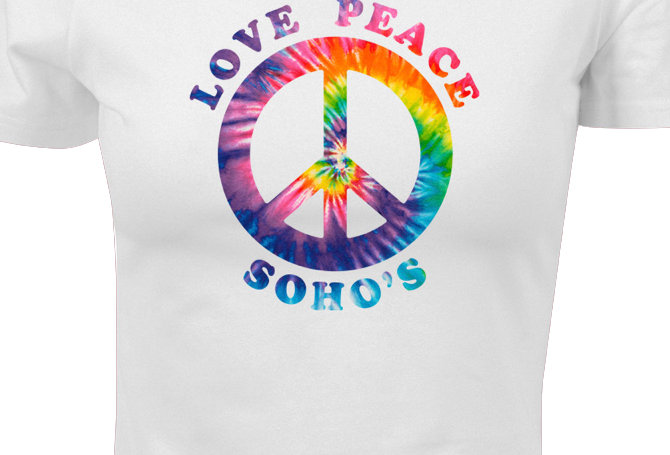 Rainbow CND Cropped Tee for Women - white