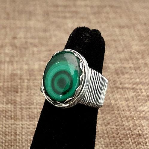 Malachite Ring sz5