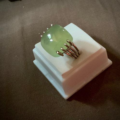 Prehnite Ring  Sz6.5