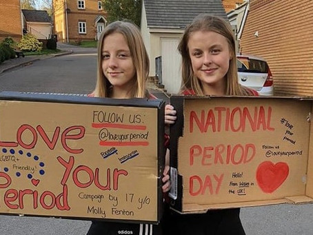 UK teens refuse to be silent about periods