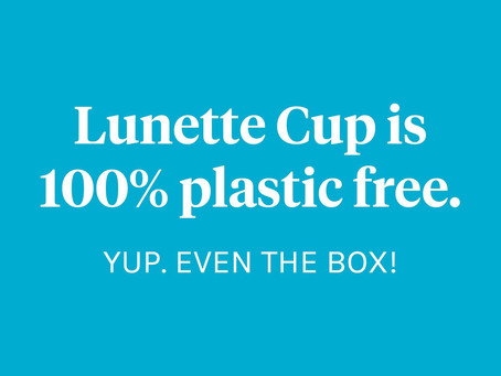 LUNETTE Menstrual Cups 100%     Plastic-Free Periods