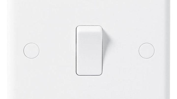 2 Way Light Switch - White