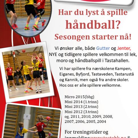 Sesonginvitasjon sesongen 2020/2021 Tasta Håndballklubb