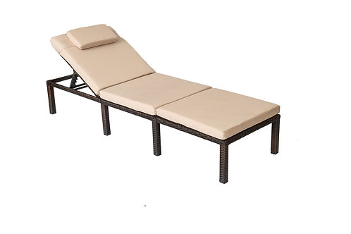 Straame Rattan Outdoors Sunlounger