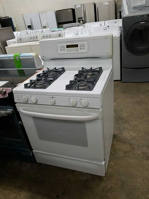 "30""width GE profile gas stove white"