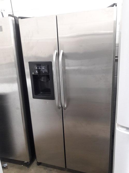 """36"""" width GE stainless steel fridge"""