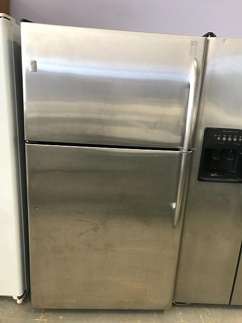 Ge profile brand refurbished stainless steel top bottom fridge with warranty.