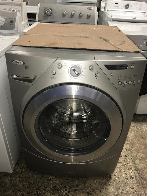 Whirlpool gray front load washer