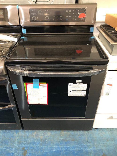 Lg new scartch dent black stainless electric stove with 1 year warranty