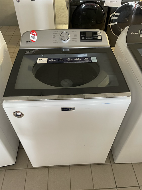 Maytag new open box Top load washer Comercial technology.