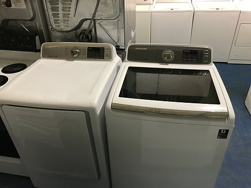 samsung used top load washr dryr set with warrnty