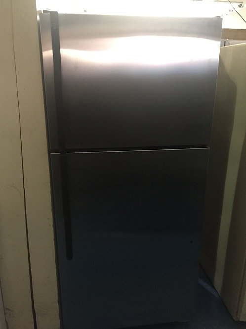 GE STAINLESS TOP AND BOTTOM FRIDGE GREAT WORKING ORDER