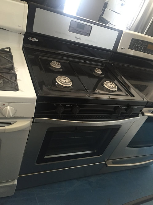 WHIRLPOOL STAINLESS GAS STOVE 90 DAYS WARRANTY