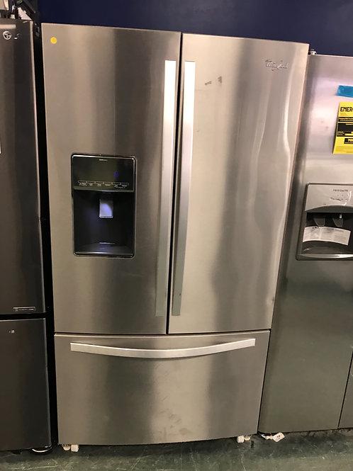 Whirlpool brand new French door refrigerator.