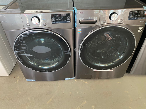 27'' NEW LG FRONT LOAD WASHER AND DRYER GAS WITH WARRANTY
