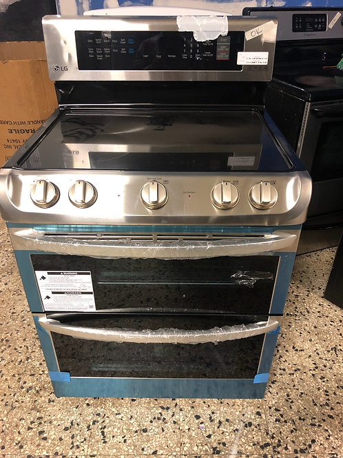 """30"""" NEW LG STAINLESS STEEL STOVE DOUBLE ELECTRIC WITH ONE YEAR WARRANTY"""