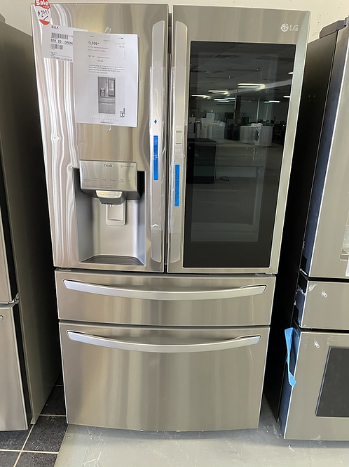 "LG new open box stainlees steel 4 door insta view refrigerator with flex zone36"""